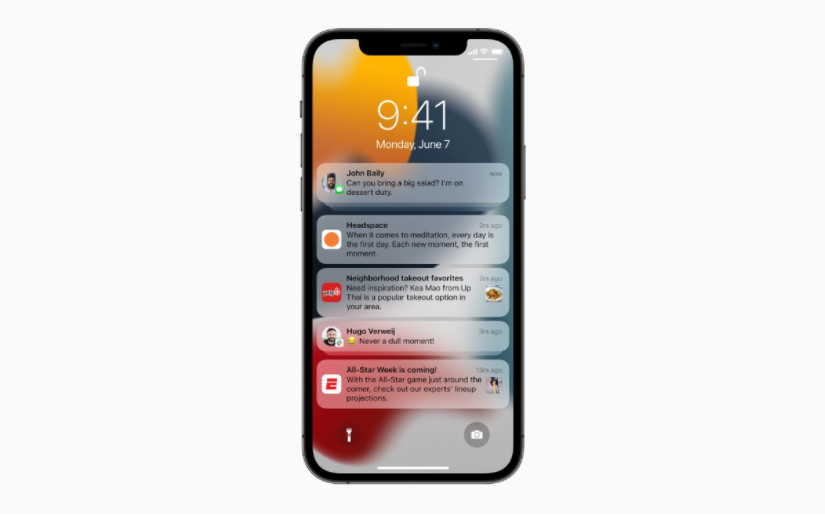 Only notifications from selected apps will appear on the iPhone home screen